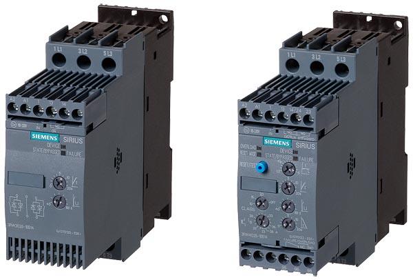 Данные устройства плавного пуска относятся к модульной линейке SIRIUS.